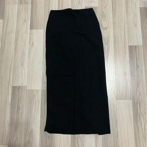 Bebe Back-Slit Skirt